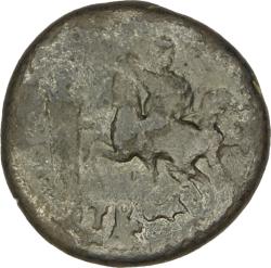 AE23 de Cómodo. COL AVG / TROA. Estatua de Apolo Smintheo y Alexandro Magno a caballo. Alexandría de la Tróade 189480